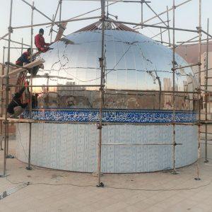 ساخت گنبد در مسکن مهر