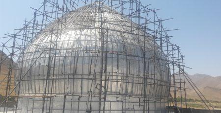 ساخت گنبد در تبریز مسجد جامع آذرشهر
