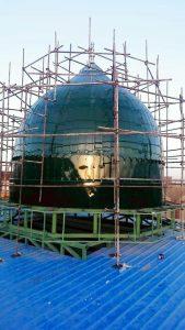 ساخت گنبد طرح مسجد النبی